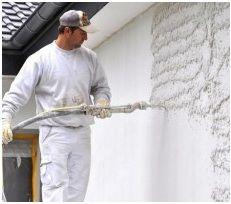 Оштукатуривание стены механизированным способом