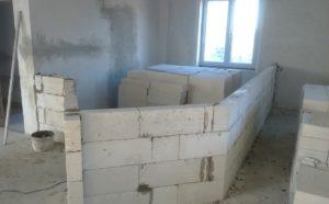 Строительство перегородки из газобетона