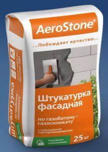 Штукатурная смесь для ячеистых бетонов