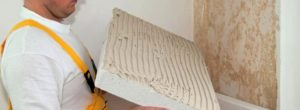 Монтаж плит на клей