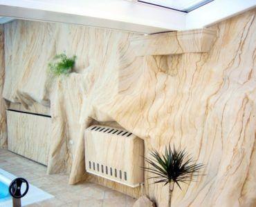 Гибкий камень – инновация в отделке комнат