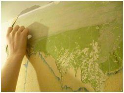 Снятие краски со стен