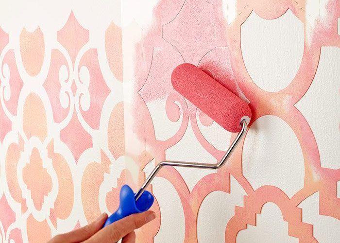 Красивая покраска стен своими руками