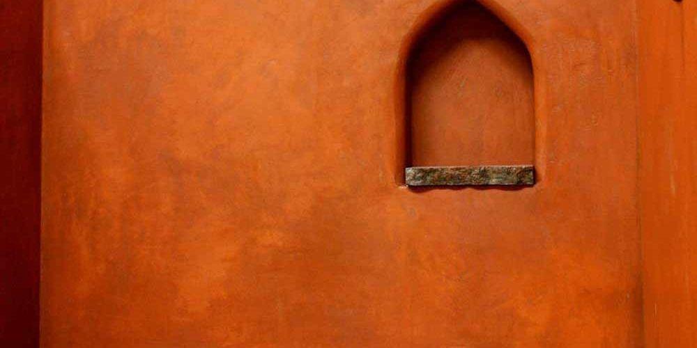Нанесение марокканской штукатурки