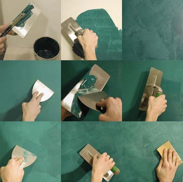 штукатурить стены