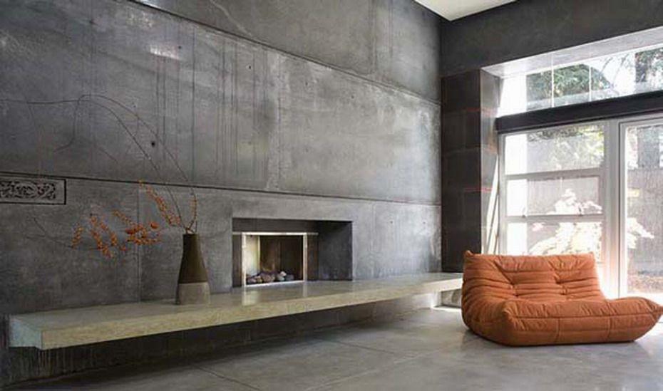 интерьер бетонный