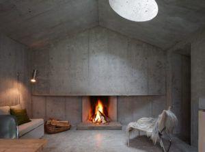 Стены под бетон в интерьере