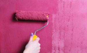 Порядок покраски стен валиком