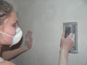 выровнять стены под покраску
