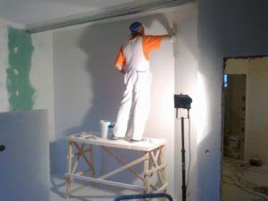 стена отшпатлеванная