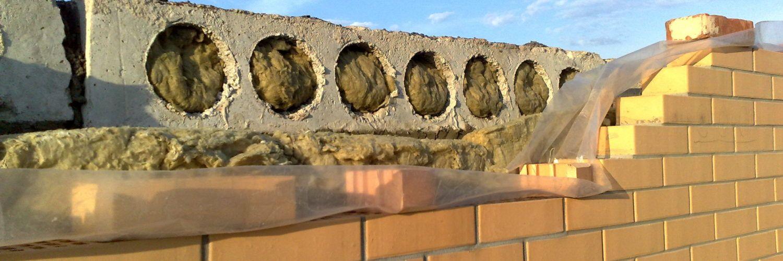 Опирание плиты перекрытия на стену