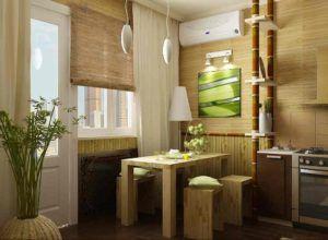 Применение бамбука для отделки стен