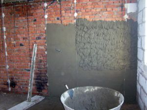 Применение цементной шпаклевки