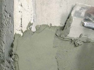 шпатлевать бетон