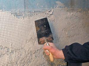 Штукатурка окрашенных стен