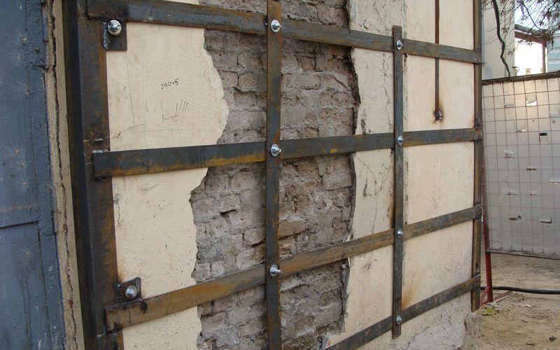 Технология усиления кирпичных стен