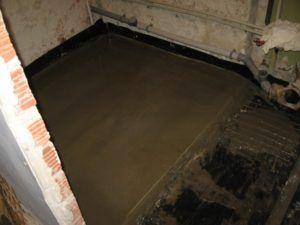 ванна пол стены
