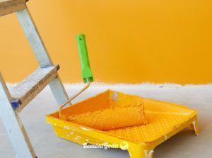 покрасить бетонную стену