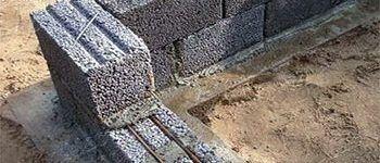Кладка керамзитных блоков