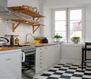 Дизайн кухни «белая кирпичная стена в интерьере»
