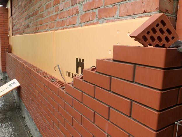 Конструкция наружной стены с утеплителем