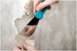 Снятие старого покрытия со стен