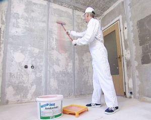 Технология штукатурки бетонных стен