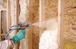 Утепление стены из ОСБ полиуретановой пеной