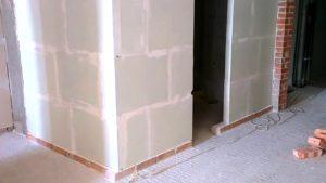 Пример установки стенок из ПГБ