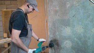 Как правильно сверлить бетонную стену
