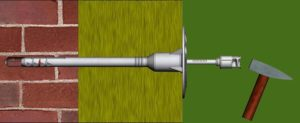 Схема закрепления минераловатного утеплителя грибком