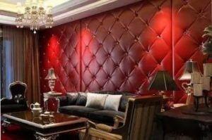 Декорированная мягким покрытием комната