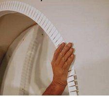 Обработка углов арочного проема.