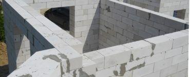 Укладка стен из газобетона