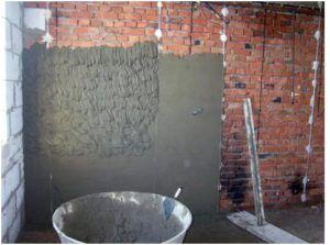Штукатурка кирпичных стен