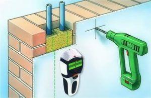 Определение расположения электропроводки прибором