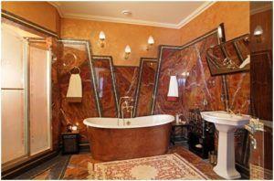 Великолепное оформление ванной