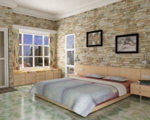 Использование керамической плитки в интерьере спальни