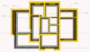 Несущие стены воспринимают максимальную нагрузку и могут быть как наружными, так и внутренними.