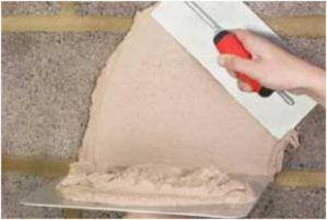Цементно-известковый раствор отличается высоким уровнем пластичности и прочности.