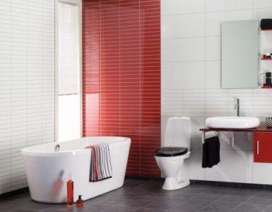 Интерьер ванной комнаты с пластиковыми стеновыми плитами