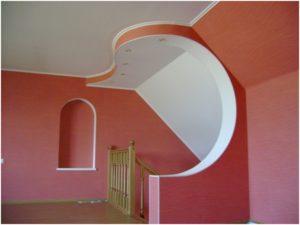 Отделка гипсокартоном стен лестничной клетки в частном доме