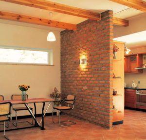 Кирпичные стены внутри – классический вариант