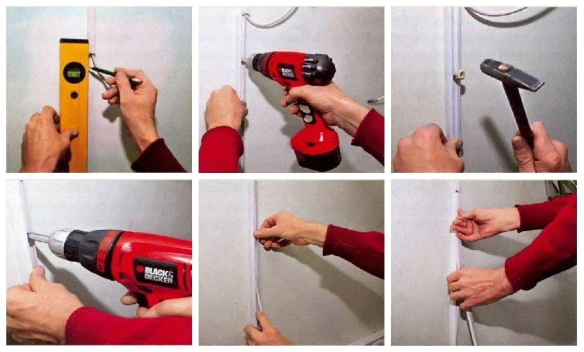 Как закрепить телевизионный кабель на стене