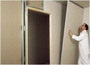 Выравнивать стены в квартире гипсокартоном проще и быстрее.